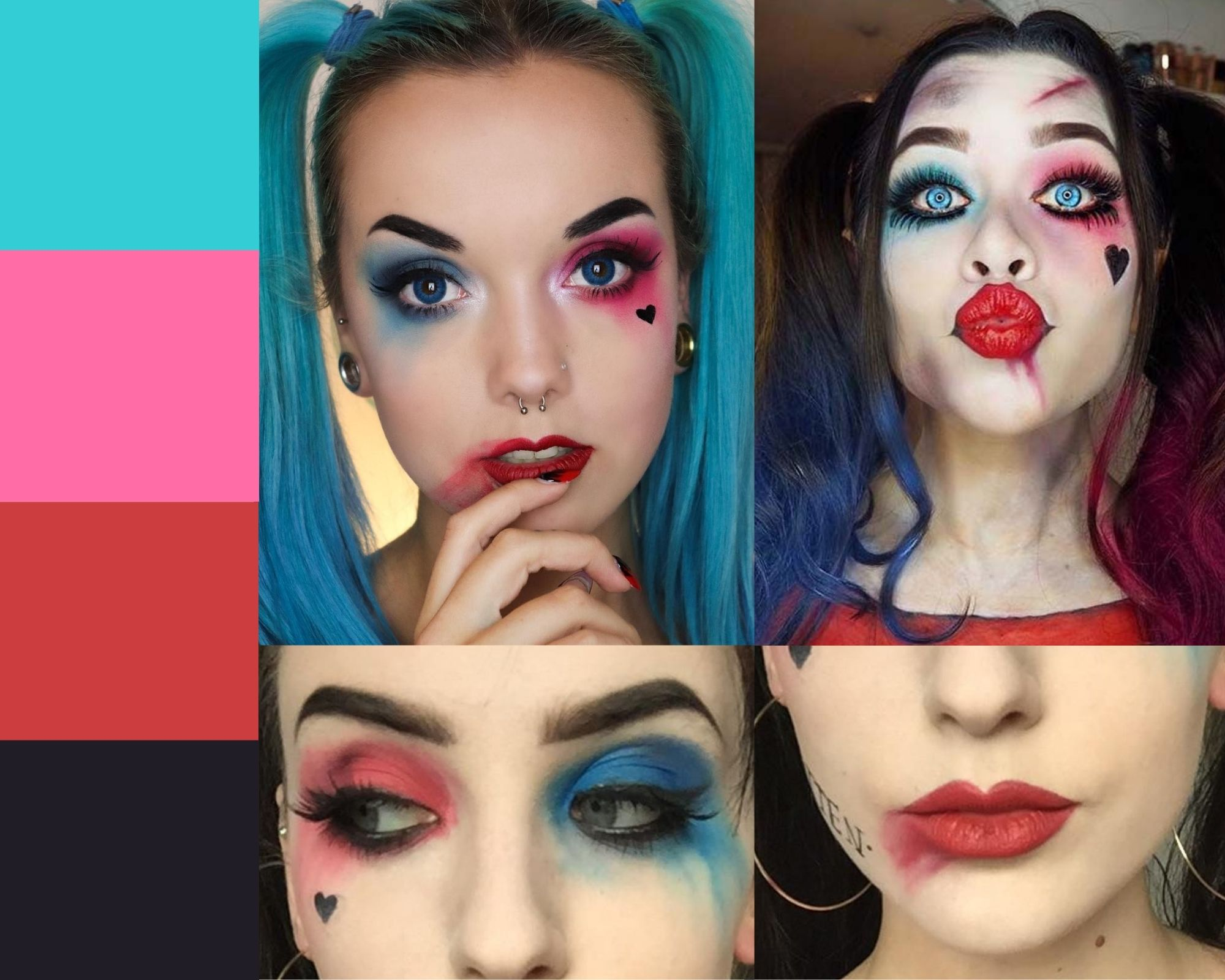 Moodboard makeup Harley Quinn